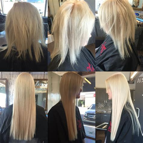 great lengths hair extensions before during after cold 16 inch great lengths hair extensions styling hair