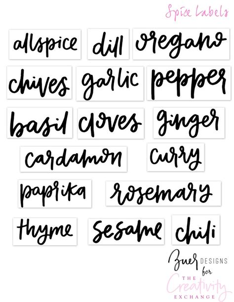 free printable pantry label templates free printable pantry labels hand lettered