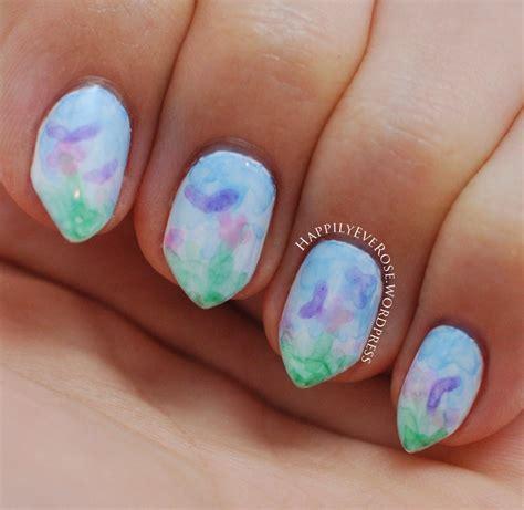water color nails watercolor nail happilyeverose