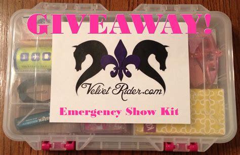 Horse Giveaway - horse show week giveaway emergency kit velvet rider
