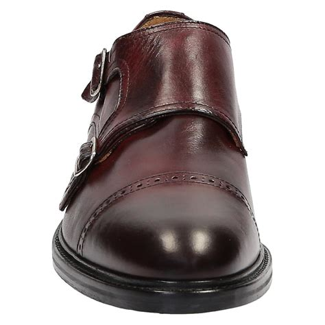 Handmade Leather Shoes Bandung - handmade monk shoes in burgundy leather fruugo
