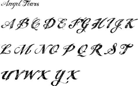tattoo font angel tears gems by julz fonts are art