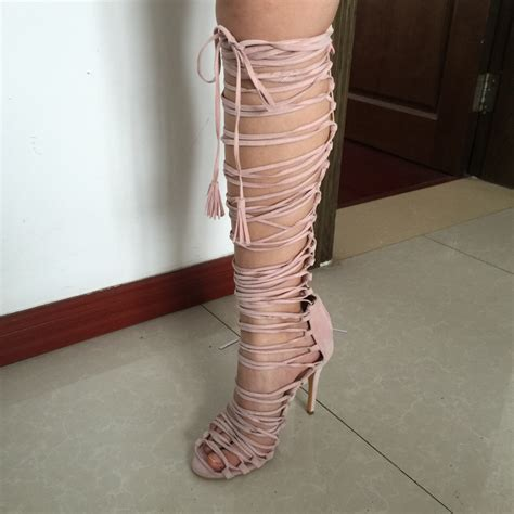 knee high gladiator heels cheap popular womens knee high gladiator sandals buy cheap