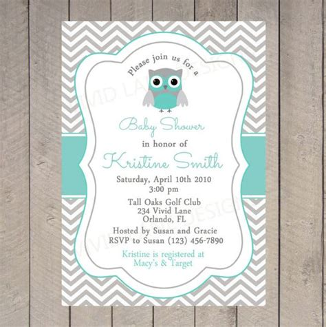 printable owl boy baby shower invitations owl baby shower invitation printable chevron teal and
