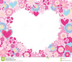 frame flowers hearts royalty free stock image image 12531126