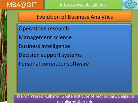 Mba In Business Intelligence And Analytics Management by Business Analytics Module 5 14mba14 According To New Vtu