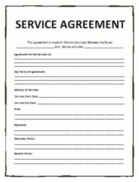 o m agreement template service agreement template word excel pdf templates