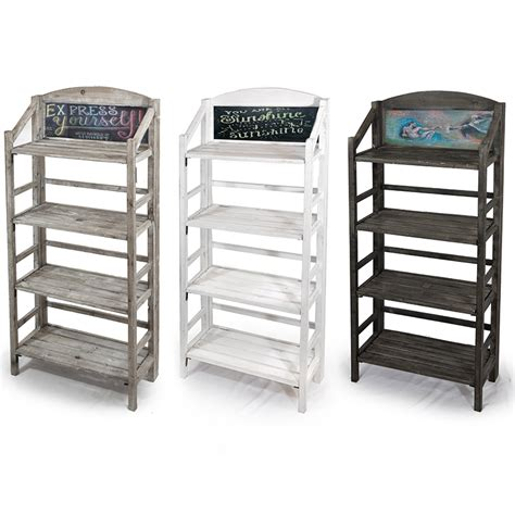 Retail Display Shelf three shelf retail display with chalkboard the lucky clover trading co