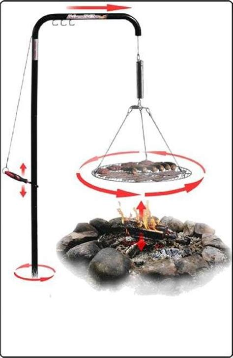 fire pit with swing out grill wimpy s swing away cfire grill beach gear for the