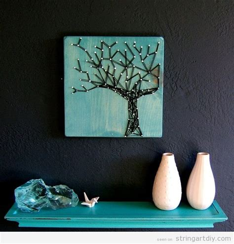 string wall tree top wall ideas to decorate blank walls simple diy ideas