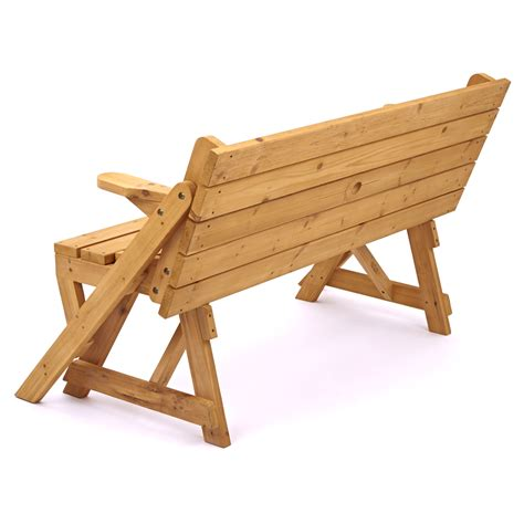 picnic table to bench modbury convertible 2 in 1 picnic table and bench
