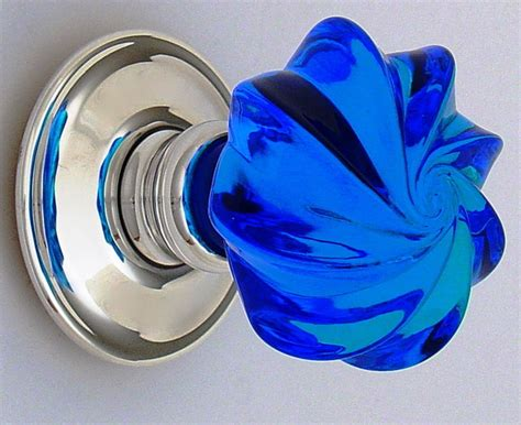 blue glass knobs cabinet and drawer knobs