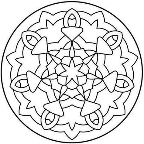 mandala coloring pages a4 coloriages mandala facile adultes