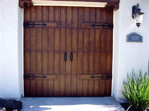 Faux Wood Garage Door Faux Garage Doors