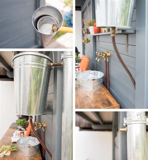 rustikale outdoor küche ideen deko wohnzimmer weiss