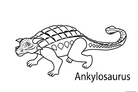 dinosaur coloring pages with names printable dinosaur coloring pages ankylosaurus for