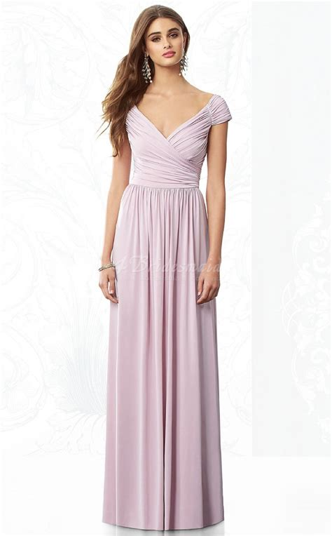 Floor Length Bridesmaid Dresses by Lilac Chiffon A Line V Neck Floor Length Bridesmaid Dresses Bd858 4bridesmaid
