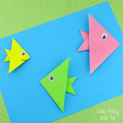How To Make Paper Folding Fish - easy origami fish origami for origami fish easy