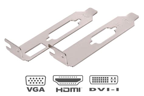 Bracket Vga Low Profile We139 low profile hdmi dvi vga bracket for graphics card 1 pair ebay