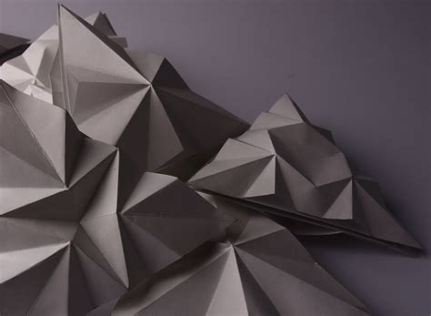 3d Triangle Origami - 3d formed triangles anni taverner