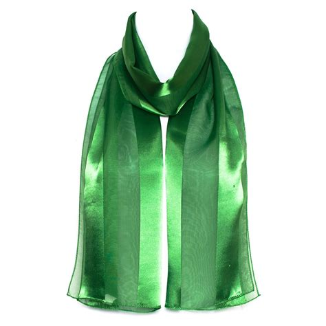 2 tone stripes chiffon neck shawl stole wrap
