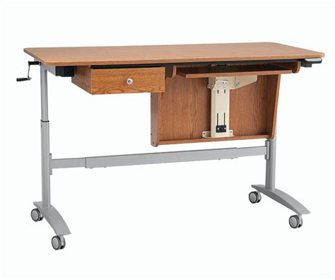 swing tables inspira electric multi lift sewing table oak only 104