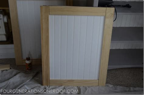 how to make a kitchen cabinet door diy built in barn doors tutorial four generations one roof