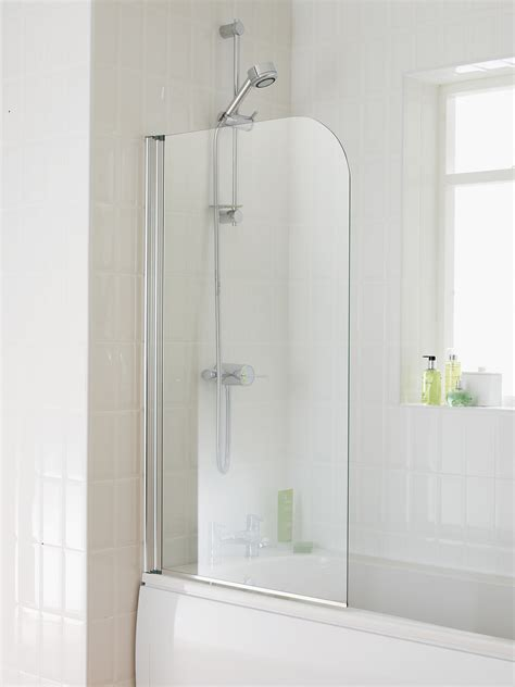 shower screens for baths essential element bath screen 750x1300mm eb301