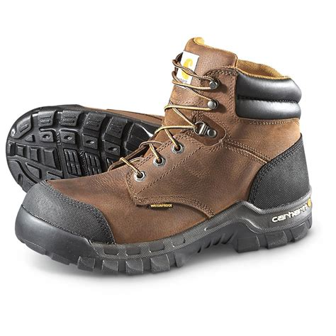 carhartt rugged flex 6 work boots leather s carhartt rugged flex 6 quot uninsulated composite toe boots