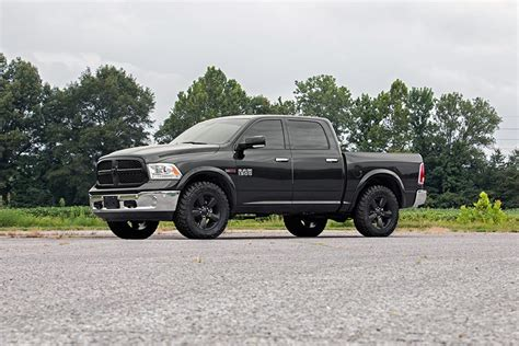 leveled ram 1500 2 5in front leveling lift kit for 2012 2016 4wd dodge ram