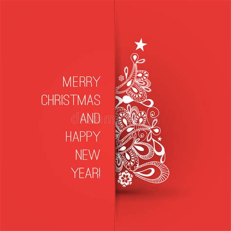 merry christmas  happy  year greeting card creative design template stock vector