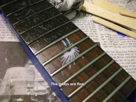 diy guitar cleaner diy guitar part 7 staining the fretboard