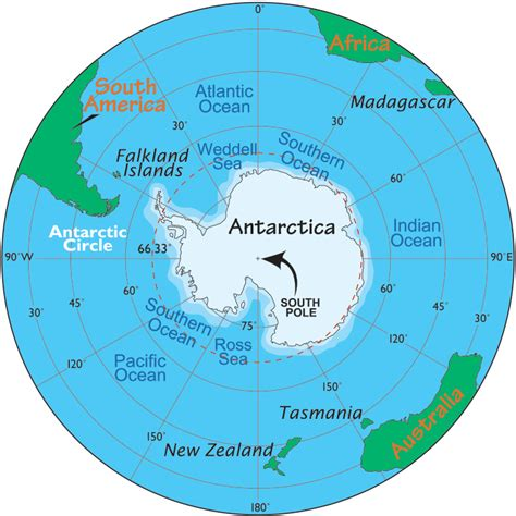 World Map Antarctica by Antarctica Map Map Of Antarctica Facts About