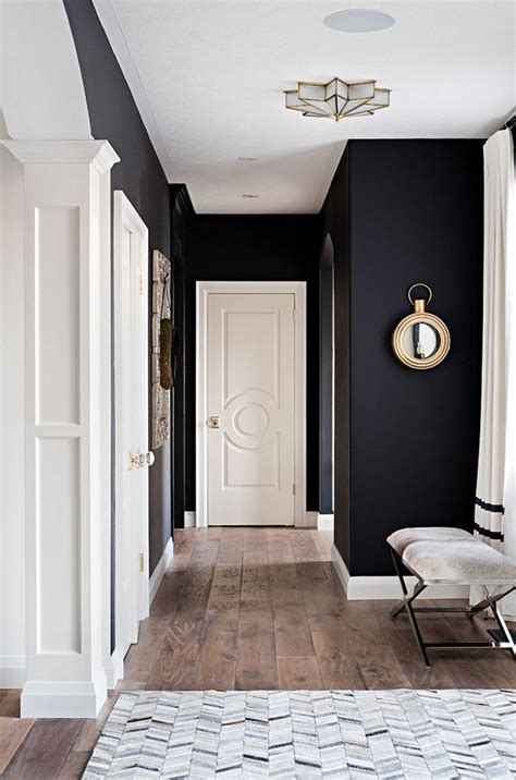 Interior Design Black Walls by Best 25 Black Wall Decor Ideas On