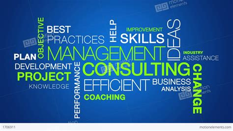 Consulting To Management management consulting word cloud text animation stock animation 1706911