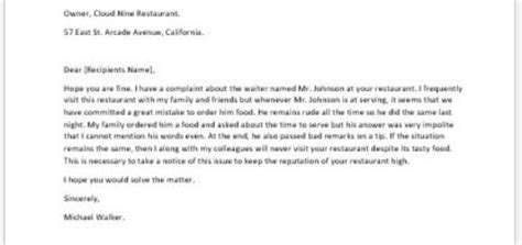 Complaint Letter About Rude Service Letter To Respond To A Complaint On Student S Safety