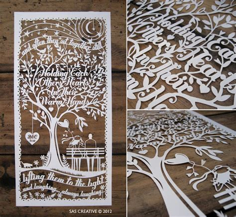 wedding papercut template sas creative wedding anniversary