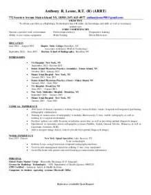 Radiologic Technologist Resume Samples healthcare medical resume sample radiologic technologist