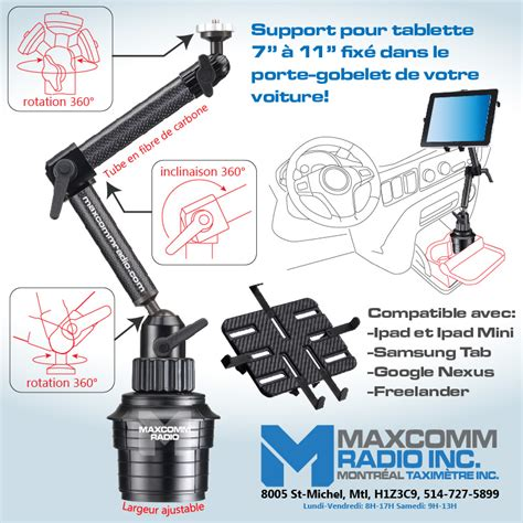 supports et fixations maxcomm radio montreal taximetre inc
