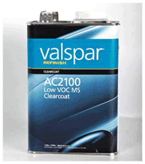 valspar refinish ac2100 low voc ms clearcoat valspar refinish