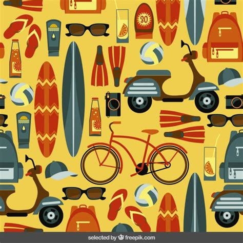 design summer year definition summer pattern in flat design vector free download