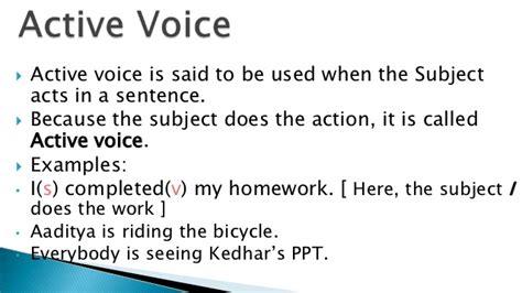 active voice sentence pattern active and passive voice