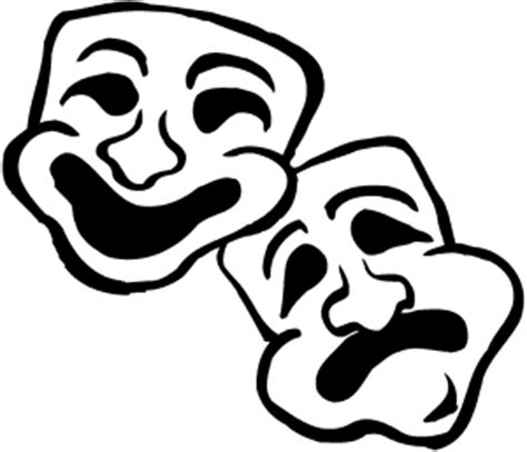 Theatre Mask Outline by Theatre Masks Outline