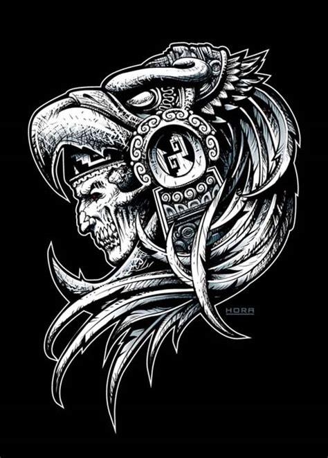 Eagle Warrior Risen By Horaci0 On Deviantart Aztec Warrior Tattoos Drawings