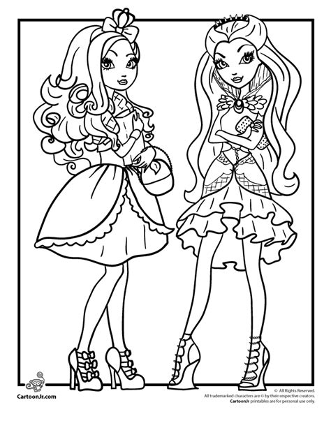 coloring pages ever after high raven queen ever after high royals rebels apple white raven