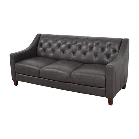 macys leather sofa and loveseat 69 off macy s macy s tufted gray leather sofa sofas