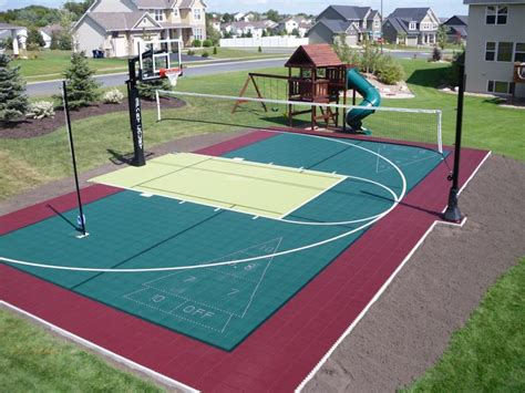 backyard courts backyard courts home gyms sport court of st louis