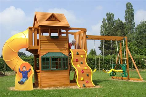 A Frame House Pictures Sandpoint Deluxe Climbing Frame With Tube Slide And Rock Wall
