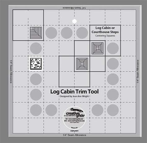 Creative Grids Quilting Ruler Cgrjaw1 Non Slip 8 Quot Log Cabin Trim Tool Creative Grids Pineapple Trim Tool Quilting Template Ruler