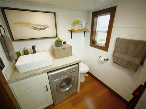 house bathroom ideas 8 tiny house bathrooms packed with style hgtv s